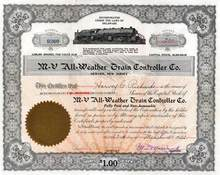 M-V All - Weather Train Controller Company 1922
