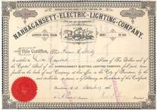 Narragansett Electric Lighting Company 1886 - Rhode Island