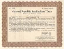 National Republic Stockholders' Trust - 1931