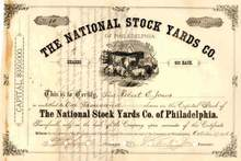National Stock Yards Company of Philadelphia - 1876