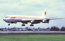 National Airlines postcard Douglas DC-8