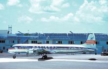National Airlines postcard Douglas DC-7