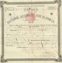 National Automatic Fire Alarm Company - New Orleans 1892