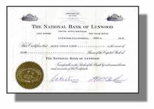 National Bank of Lynwood 1931 - Lynwood, California