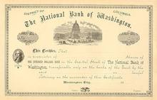 National Bank of Washington DC Stock