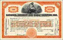 National Conduit Cable Company, Inc. 1922 - New York