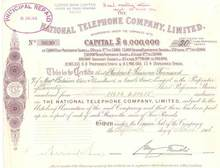 National Telephone Company - England 1906