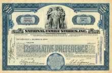 National Family Stores Stock - Depression Era