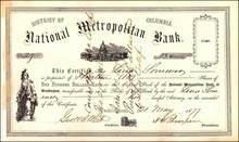 National Metropolitan Bank 1877 - District of Columbia