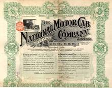 National Motor Cab Company 1910 - Great Old Cab Vignette - England