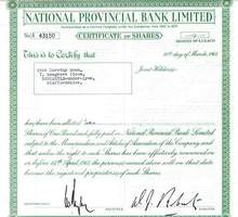 National Provincial Bank - 1961