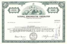 National Semiconductor Corporation ( Early Stock ) with Charlie Sporck as president 1970