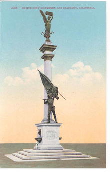 Native Sons' Monument, San Francisco, California Postcard