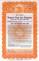 National Tank Car Company 1922 - $1,000 Gold Debenture - Illinois