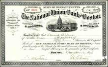 National Union Bank of Boston 1894 - Massachusettes