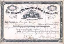 National Underground Electric Company 1883 - Camden, New Jersey