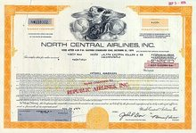 North Central Republic Airlines Stock