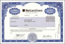 Netcentives - Dot Com Bankruptcy --- Issued September 11, 2001