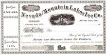Nevada & Mountain Lakes Ice Company - 1870