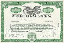 Southern Nevada Power Company Stock Certificate