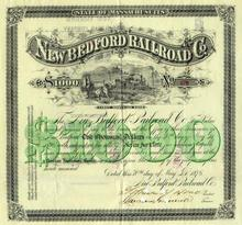 New Bedford Railroad Company 1876