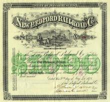 New Bedford Railroad Company 1876