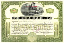 New Cornelia Copper Company 1926