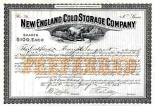New England Cold Storage Company 1913 - Polar Bear Vignette