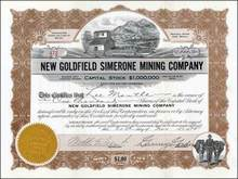 New Goldfield Simerone Mining Company 1915