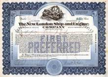 New London Ship and Engine Company signed by Frank Cable