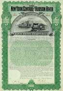 New York Central and Hudson River Railroad GOLD Bond 1898