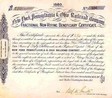 New York, Pennsylvania & Ohio Railroad Company 1880