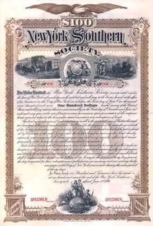 New York Southern Society 1899