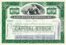 Lion Match Company Stock Certificate