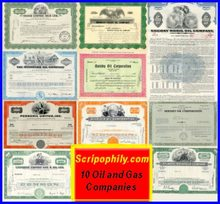 10 Oil and Gas Certificates - Discount Package