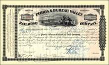 Peoria & Bureau Valley Railroad Company 1899