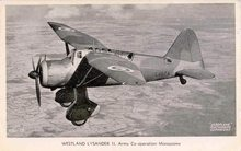 Westland Lysander ll - Army Co-operation Monoplane
