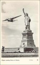 Pan American Airlines Clipper Photo Postcard