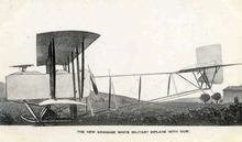 New Grahame White Military Biplane with Gun Photo Postcard