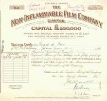 Non - Inflammable Film Company 1927