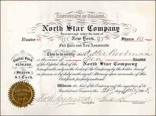North Star Company 1905 - New York