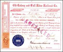 Old Colony and Fall River Railroad Co. 1863