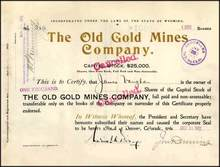 Old Gold Mines Company 1901 - Wyoming