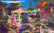 Oriental Tea Garden, Golden Gate Park, San Francisco, California Postcard