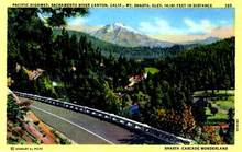 Pacific Highway, Sacramento River Canyon, California Postcard