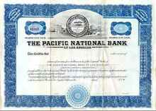Pacific National Bank of Los Angeles 1920's