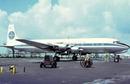 Pan Am Airways postcard Douglas DC6B