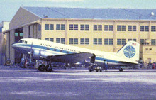 Pan American Airways postcard DC3 1940's