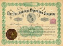 Pan American Exposition Company Stock 1901