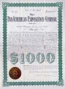 Pan American Expostion Company 1901 - Signed John Milburn ( Pres. McKinley Died in Milburn's home)